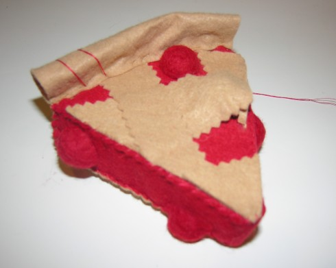Copyright American Felt and Craft cherry pie step25