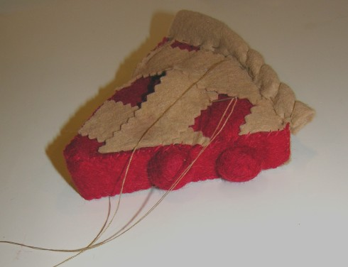 Copyright American Felt and Craft cherry pie step26