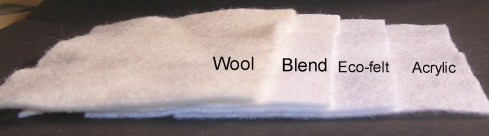 acrylic wool eco blend felt