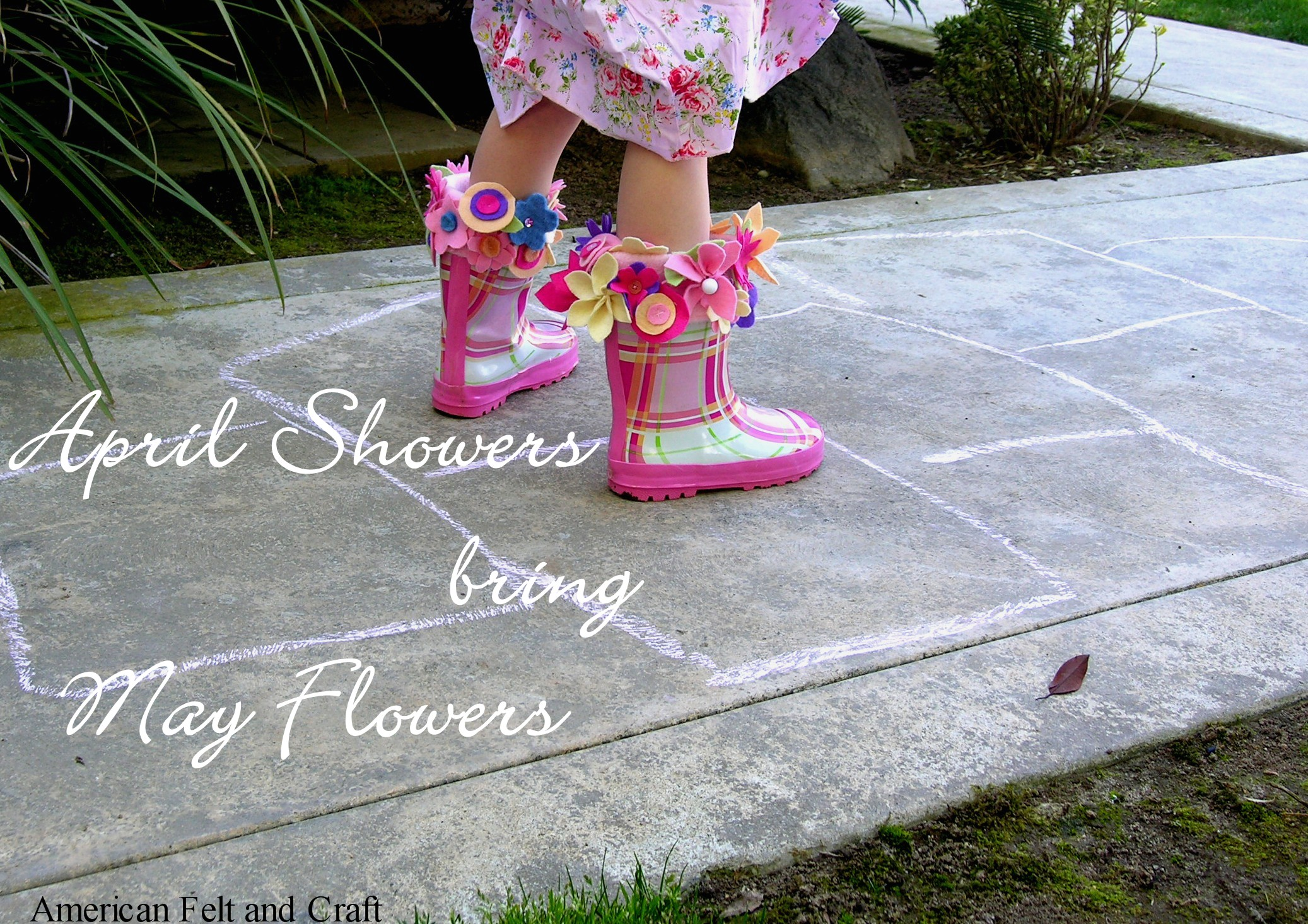 april showers bring may flowers diy rainboot liners american