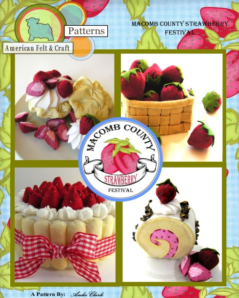 American Felt and Craft Pattern, Strawberry Festival
