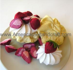 Felt Strawberry Shortcake pattern
