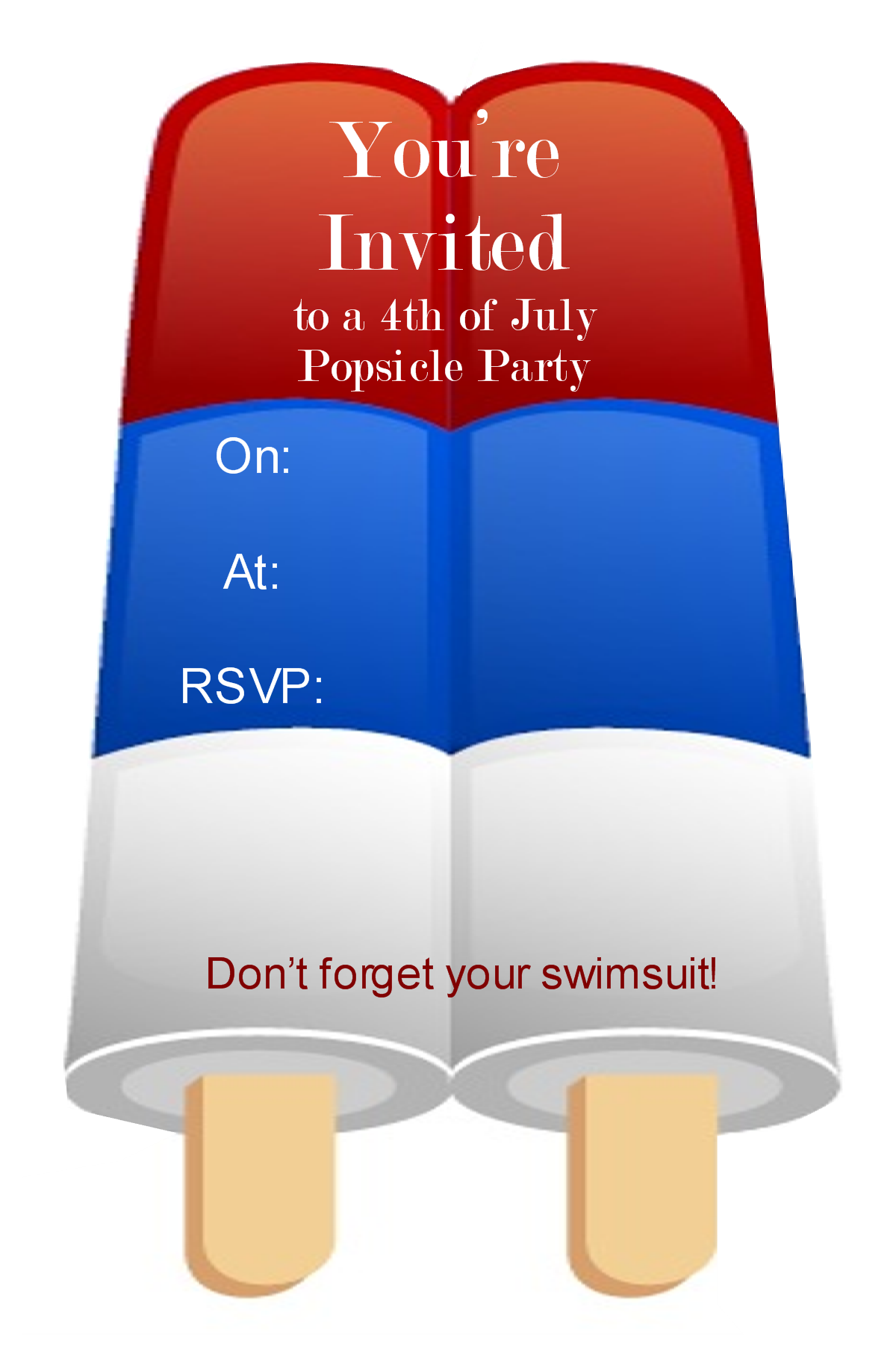 july 4th party invitation template – Blank Party Invitations