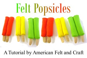 DIY Felt Food  Popsicle / ice pop tutorial pattern with templates