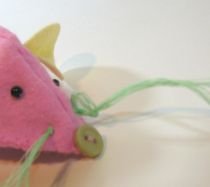 felt mouse whiskers how to