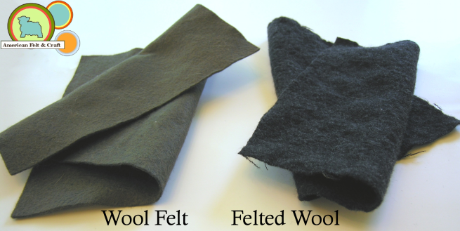 The difference between wool felt and felted wool.