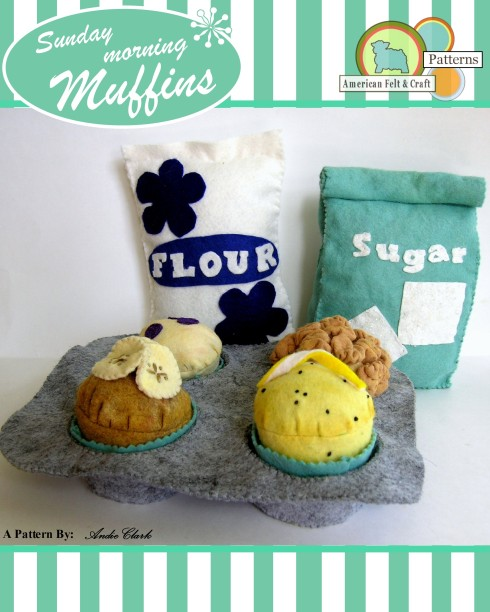 Felt food Muffin Pattern American Felt and Craft