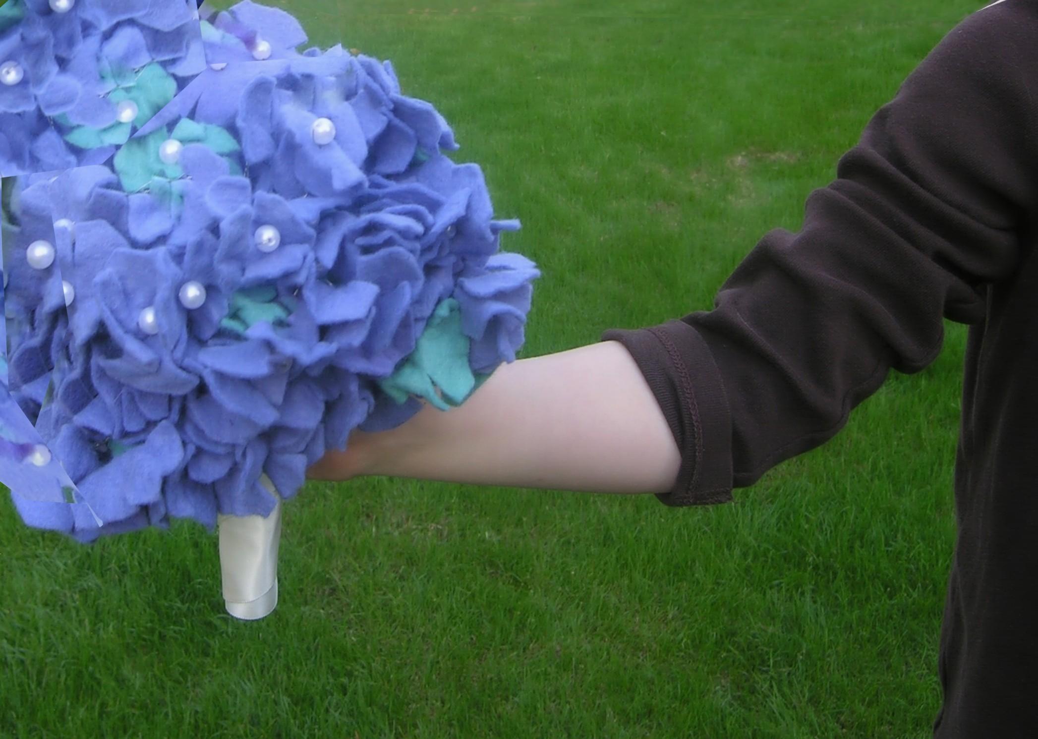 felt brides bouquet hydrangea pattern