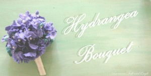Felt Hydrangea Flower Bouquet - felt flower tutorial