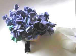felt bride's bouquet hydrangea flower