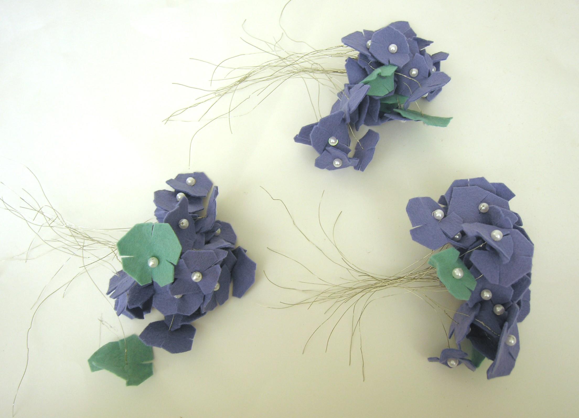 Felt hydrangea bridal bouquet tutorial american felt craft blog felt bouquets for wedding instructions izmirmasajfo