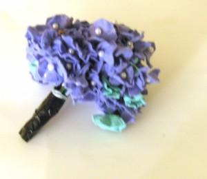 how to make felt hydrangea flowers