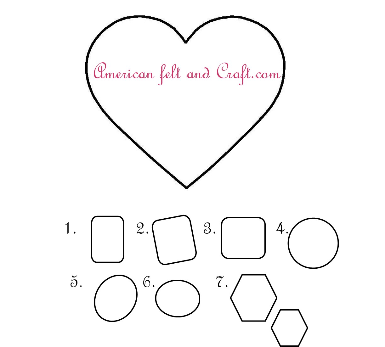 Felt heart template gallery template design ideas for Uo forever templates