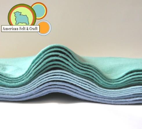 felt sheets blue