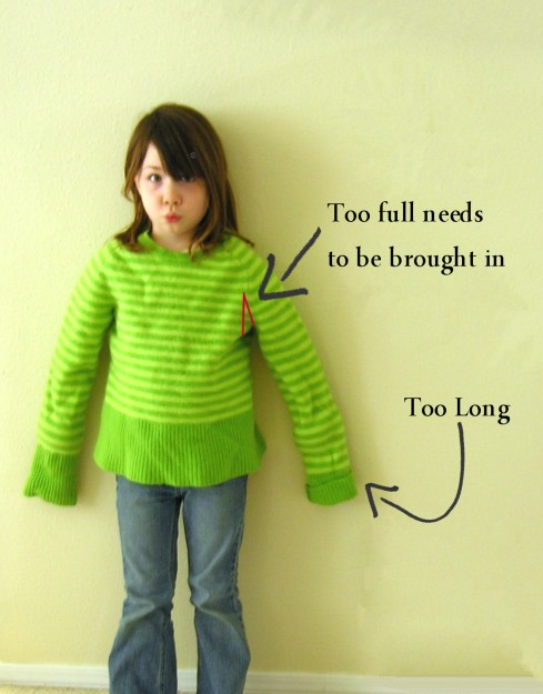 shrunken wool sweater