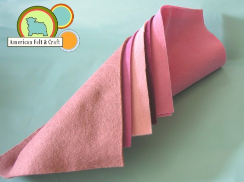 Craft felt sheets in pink
