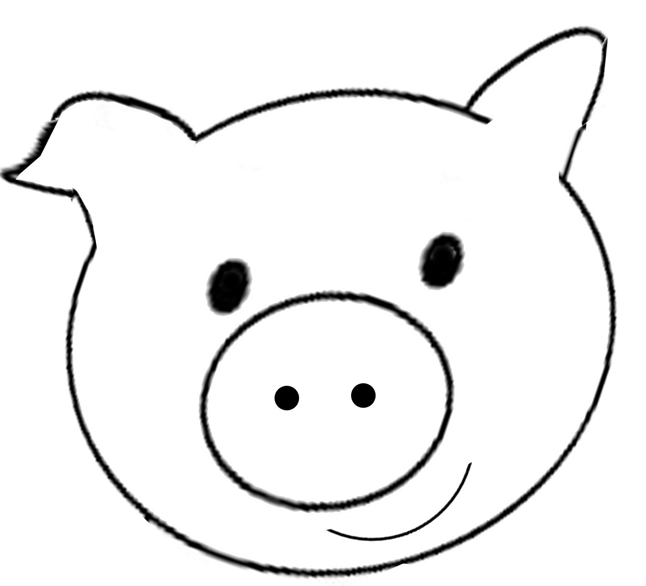 Pig Face Coloring Pages For Kids Cooloringcom