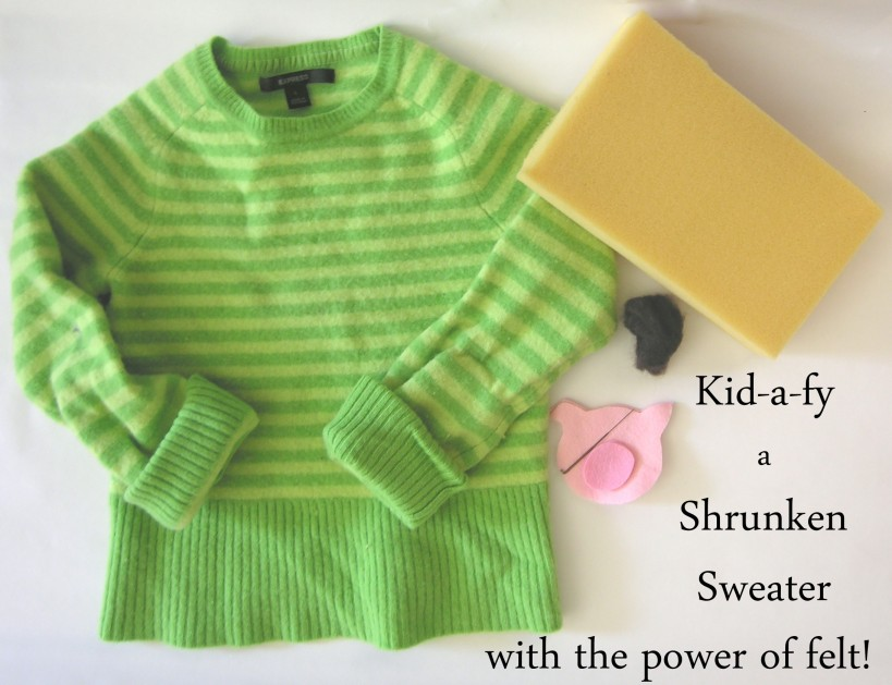 Shrunken sweater craft project