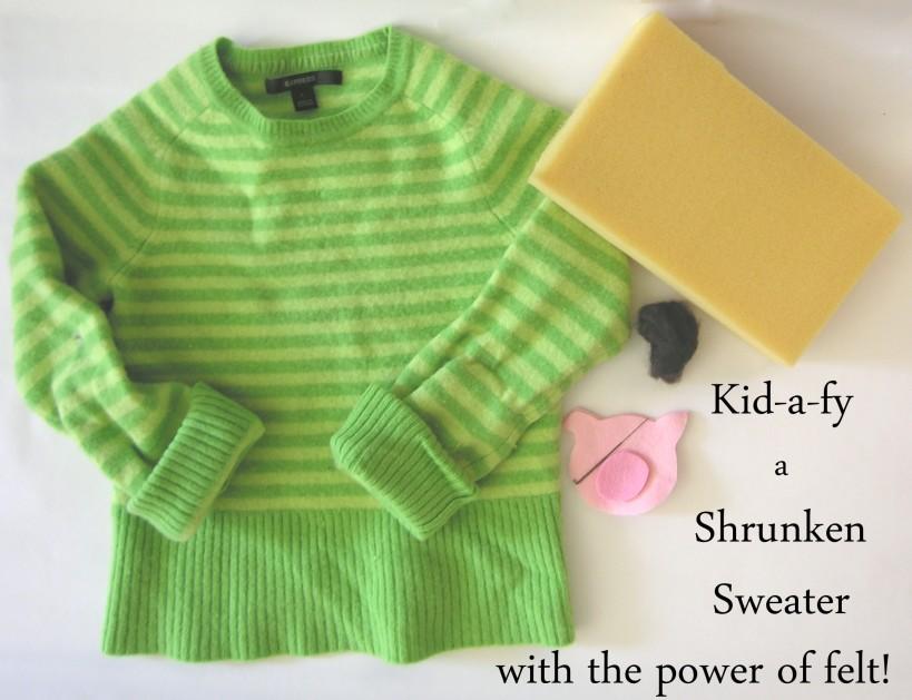 Shrunken sweater craft project