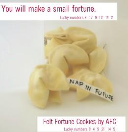 Felt Fortune Cookie Tutorial