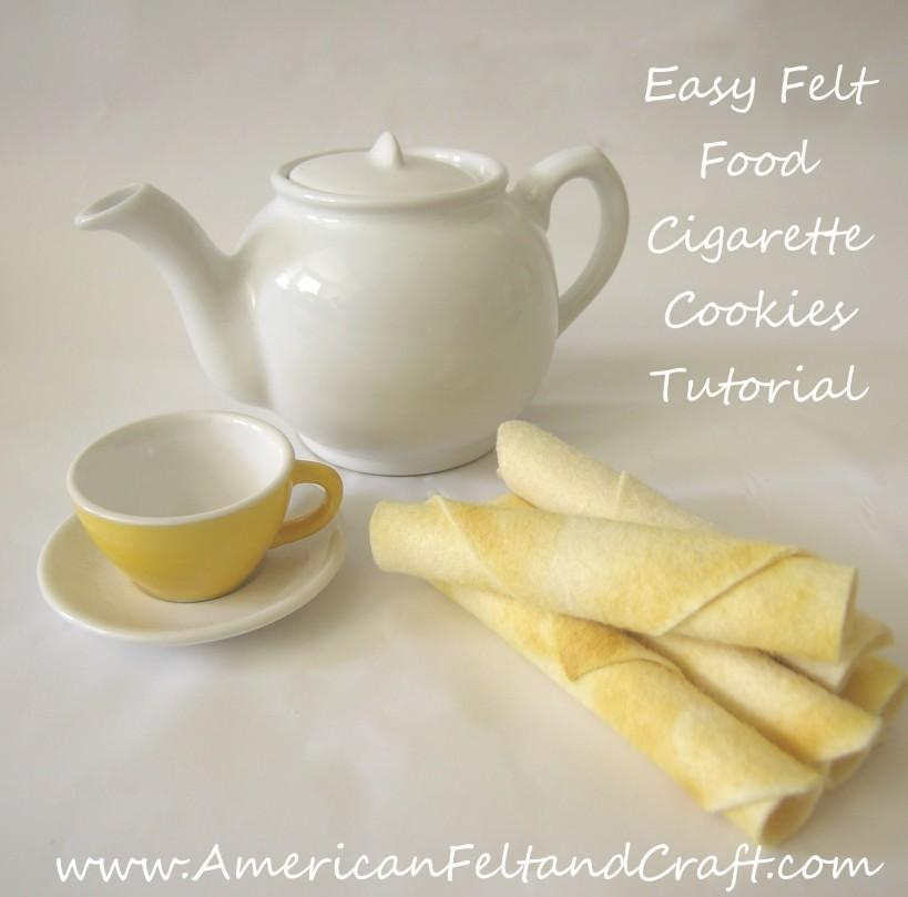 Easy Felt Food cookie tutorial