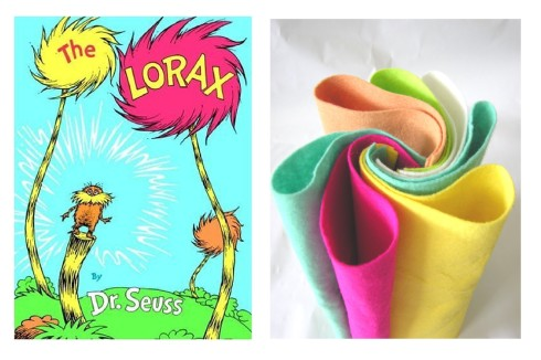 Lorax felt colors