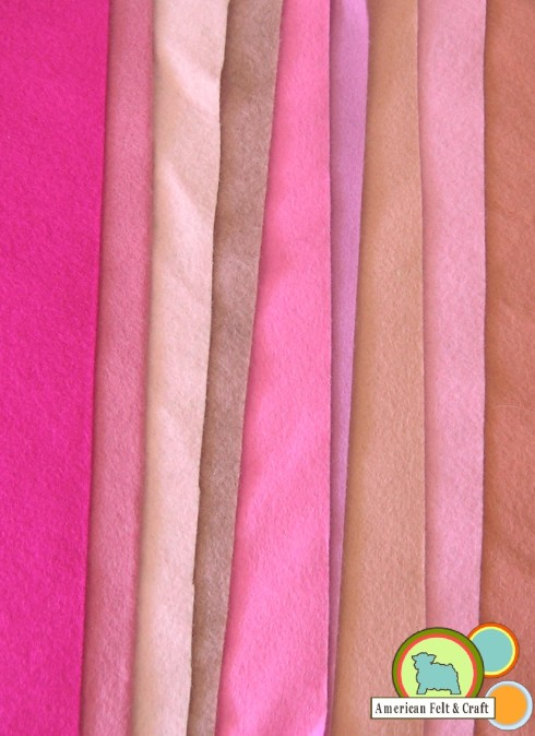 Pink Wool Felt from American Felt and Craft