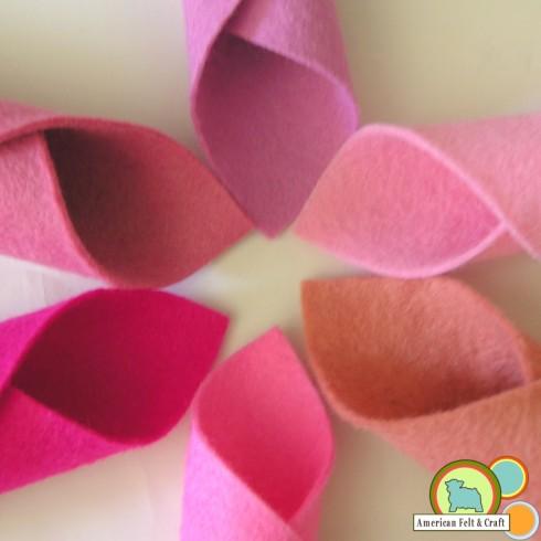 Pink Wool Felt Sheets
