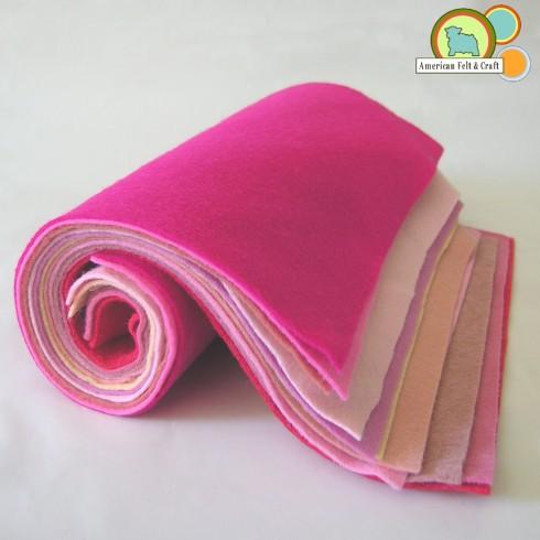 Wool Felt in pinks