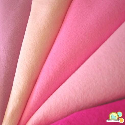 pink wool blend felt sheets