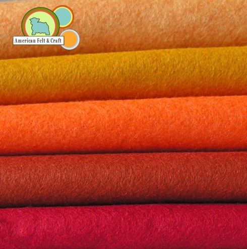 Southern Sunset American Felt and Craft wool blend Felt