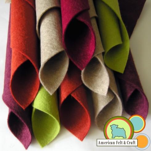 Wool felt  Southwest Botanical Garden colors