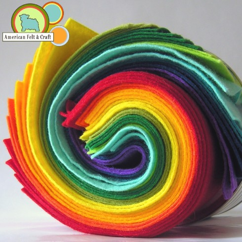 Rainbow Felt from American Felt and Craft