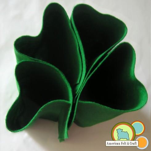 Saint Patrick's Day 4 leaf clover felt.