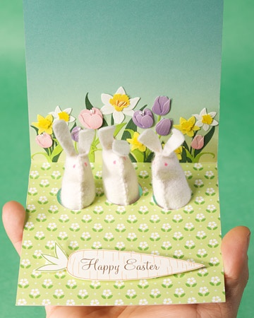 Felt Bunny Greeting Card