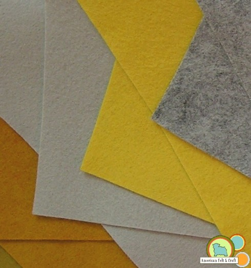 New neutral felt in mustard and grey tones.