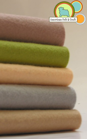 American felt and craft neutral felt colors