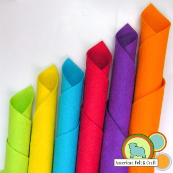 Popsicle colored felts from American Felt and Craft