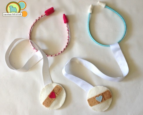diy tutorial to make felt stethoscope