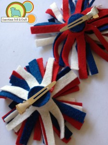 Finished Firecracker hair clips