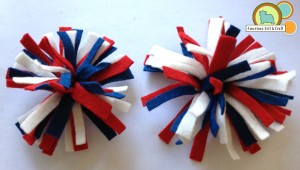 Little Firecracker felt hair clips tutorial from American Felt and Craft - The Blog
