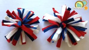 Little Firecracker felt hair clips tutorial from American Felt and Craft - The Blog
