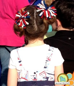 4th of July felt firework hair clips tutorial