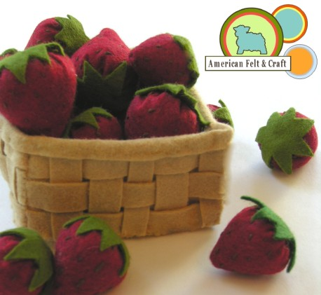 Felt Food Berry Picking Strawberries