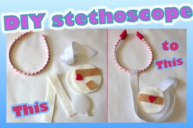 DIY felt stethoscope tutorial
