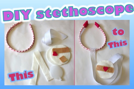 DIY felt stethoscope tutorial