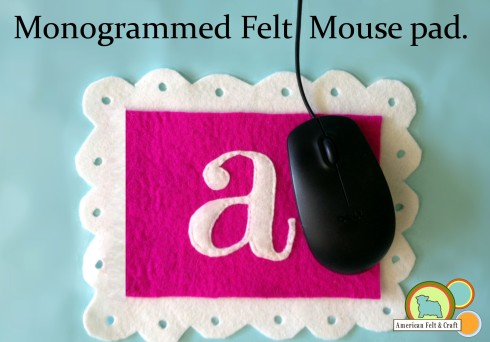 Scallop and eyelet felt mousepad tutorial