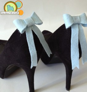 How to make felt shoe clips- something blue bows