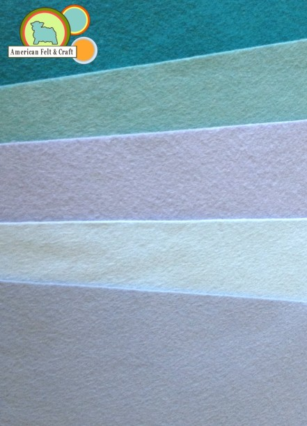 Blue Wool Blend felt sheets - American Felt and Craft carries over 100 colors