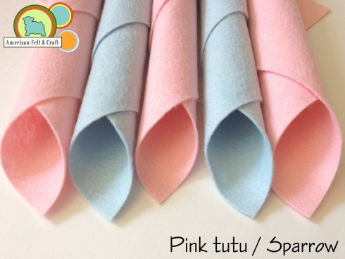 Felts in baby blue and baby pink